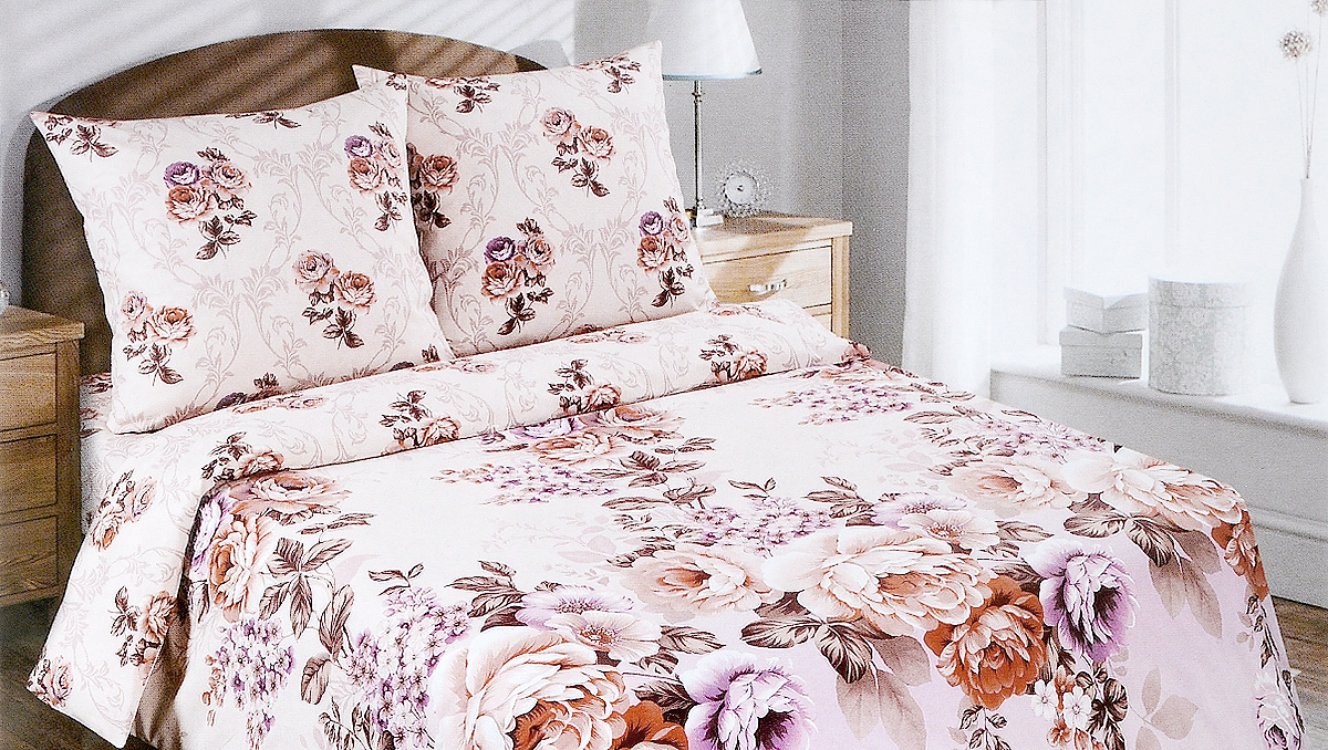 Комплект белья АртПостель Карамельная роза, семейный, наволочки 70x70 цена артпостель
