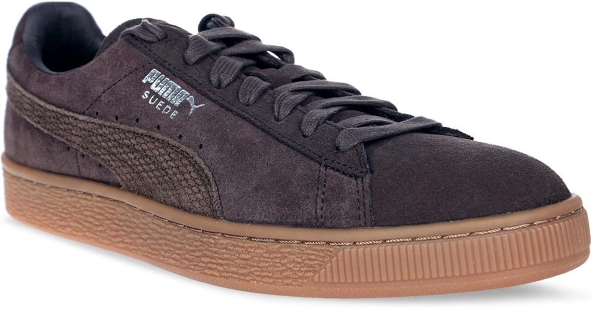 Кеды мужские Puma Suede Classic Citi, цвет: коричневый. 36255101. Размер 9,5 (43)36255101Без сомнения самая известная и популярная модель от Puma произвела в своё время настоящую революцию в мире спортивной обуви, прославив этот немецкий бренд и став неотъемлемым аксессуаром молодежи, исповедующей активный стиль жизни, в любой стране мира. Так продолжается с далеких 80-х и до наших дней. Культовая модель Suede представлена в этом сезоне в более темной, чем обычно, цветовой гамме, для тех поклонников Suede, которым нужна городская обувь для тех случаев, когда она не должна быть слишком светлой. Рельефная поверхность подошвы гарантируют отличное сцепление на мокрых поверхностях. Традиционная шнуровка вместе с мягким язычком обеспечивает надежную фиксацию ноги. В таких кедах вашим ногам будет комфортно и уютно.