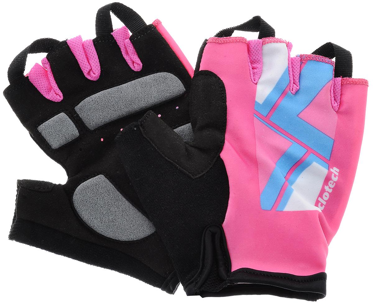 Велоперчатки Cyclotech Canna Bike, цвет: черный, розовый. Размер SCNN-BK-SВелоперчатки Cyclotech Canna Bike отлично садятся по руке. Ладонь выполнена из полиамида и дополнена объемными вставками, тыльная сторона изготовлена из эластана и нейлона. Благодаря резинке перчатки легко надевать. Перчатки хорошо вентилируются, не дают руке скользить на руле и гасят неприятные вибрации.