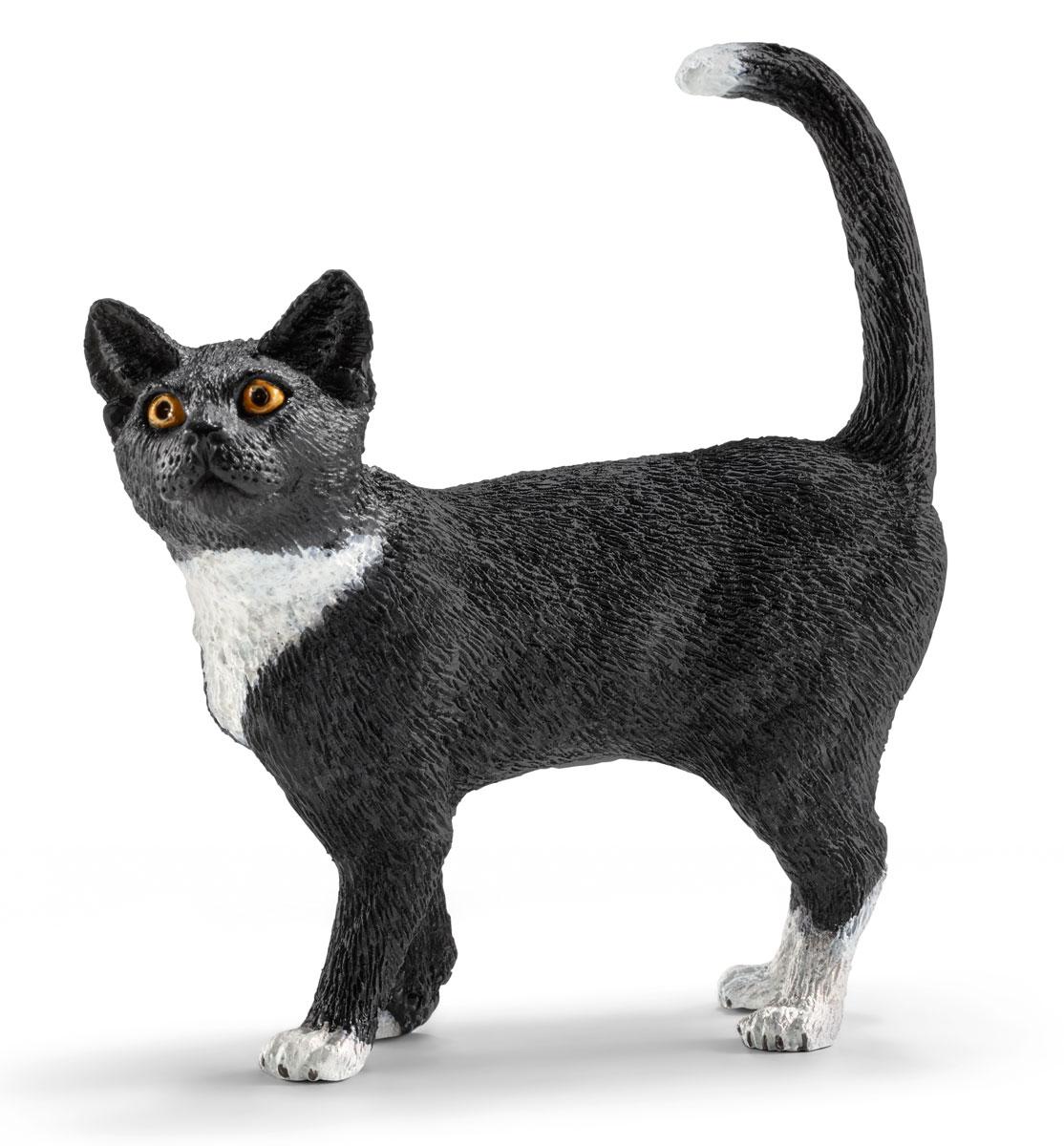 Schleich Фигурка Кошка цвет черный белый теленок черный ангус schleich