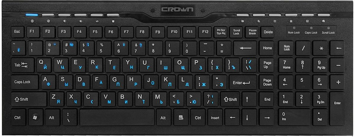 Crown CMK-201, Black клавиатура платформы и подставки для клавиатуры