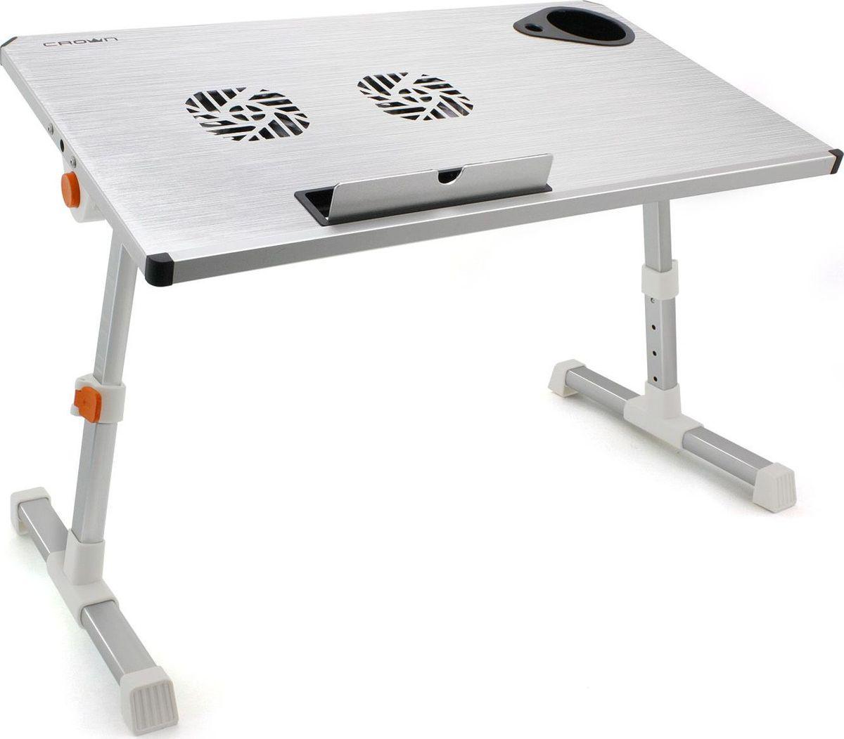 "Crown CMLS-101, Silver столик для ноутбука 17"""