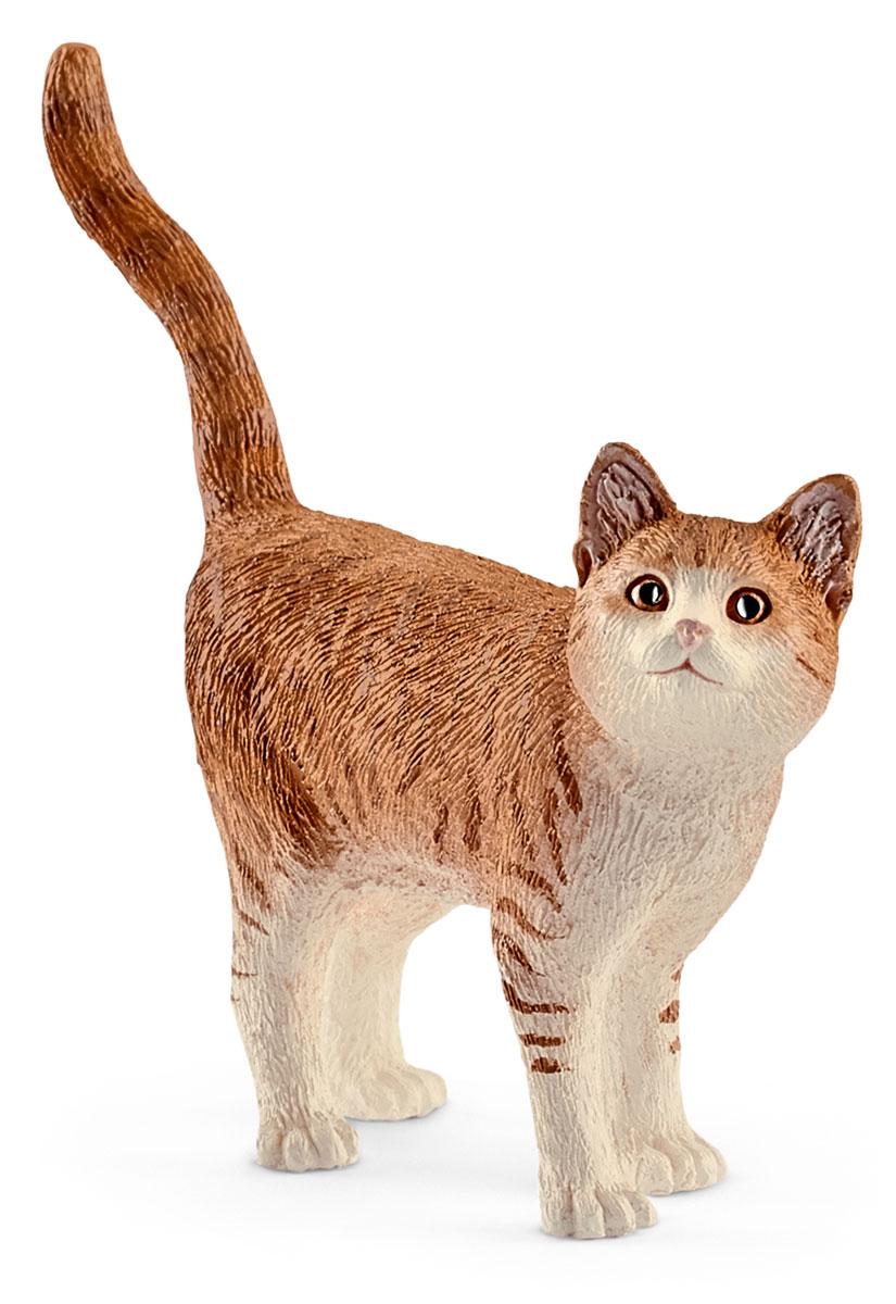 Schleich Фигурка Кошка цвет светло-коричневый белый schleich корм для коров и телят