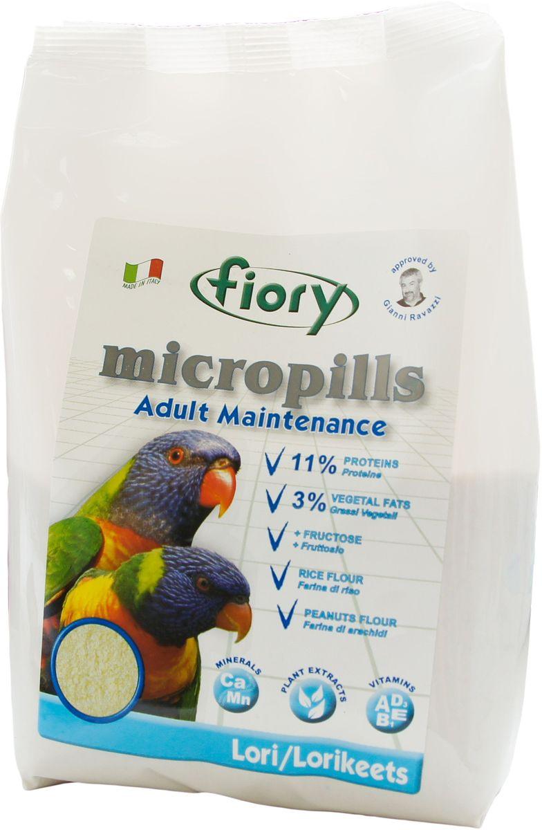 Корм сухой Fiory Micropills для попугаев Лори, 800 г0310Полноценный корм Fiory Micropills предназначен для взрослых попугаев Лори.Язык у лориевых специализирован для слизывания жидкой пищи. Кончик языка покрыт короткими сосочками и похож на щеточку и очень напоминает шершавый язык кошки. Такое строение позволяет максимально эффективно собирать нектар и пыльцу цветущих растений, что в природе является основным кормом для этих попугаев. Корм Fiory Micropills содержит большое количество углеводов: смесь из бисквитной муки, нежной муки тонкого помола из лучших бобовых культур (чечевица, нут, горох), рисовой муки и фруктозы делают этот продукт уникальным в своем роде. Живой глютен пшеницы, который является источником белка, полностью и легко усваивается. Продукт не содержит сою! Пониженное содержание белка (11%) и жира (3%), что соответствует потребностям данного вида попугаев. Полезные нутрицевтики (дрожжи, инулин Цикория, фруктоолигосахариды, бета-глюканы, Омега-3 и Омега-6 жирные кислоты, титрованные растительные экстракты и прочее) способствуют правильному пищеварению, укрепляют иммунную систему, повышают усвоение минеральных веществ, улучшают работу сердца и сосудов, играют важную роль в развитии головного мозга и зрения, способствуют формированию блестящего оперения. Корм не содержит сою! Состав: мука из печенья, фруктоза, декстроза, рисовая мука, отруби кукурузные, отруби пшеничные, мука из чечевицы, мука из нута, мука из гороха, глютен пшеницы, подсолнечное масло, яичный порошок, дрожжи Saccharomyces Cerevisiae (1250 мг/кг), инулин Цикория (250 мг/кг), клеточные стенки дрожжей Saccharomyces Cerevisiae (MOS 187,5 мг/кг), фруктоолигосахариды (ФОС 125 мг/кг), бета глюканы из дрожжей Saccharomyces Cerevisiae (66,9 мг/кг), нуклеотиды (62,5 мг/кг), Юкка Schidigera (25 мг/кг), масло Огуречника (Омега-6 ГЛК-микроинкапсулированная 5,55 мг/кг), жирные кислоты (Омега-3 DHA+EPA+DPA 1,51 мг/кг), титрованные растительные экстракты (Молочный чертополох, Одуванчик лекарственный,