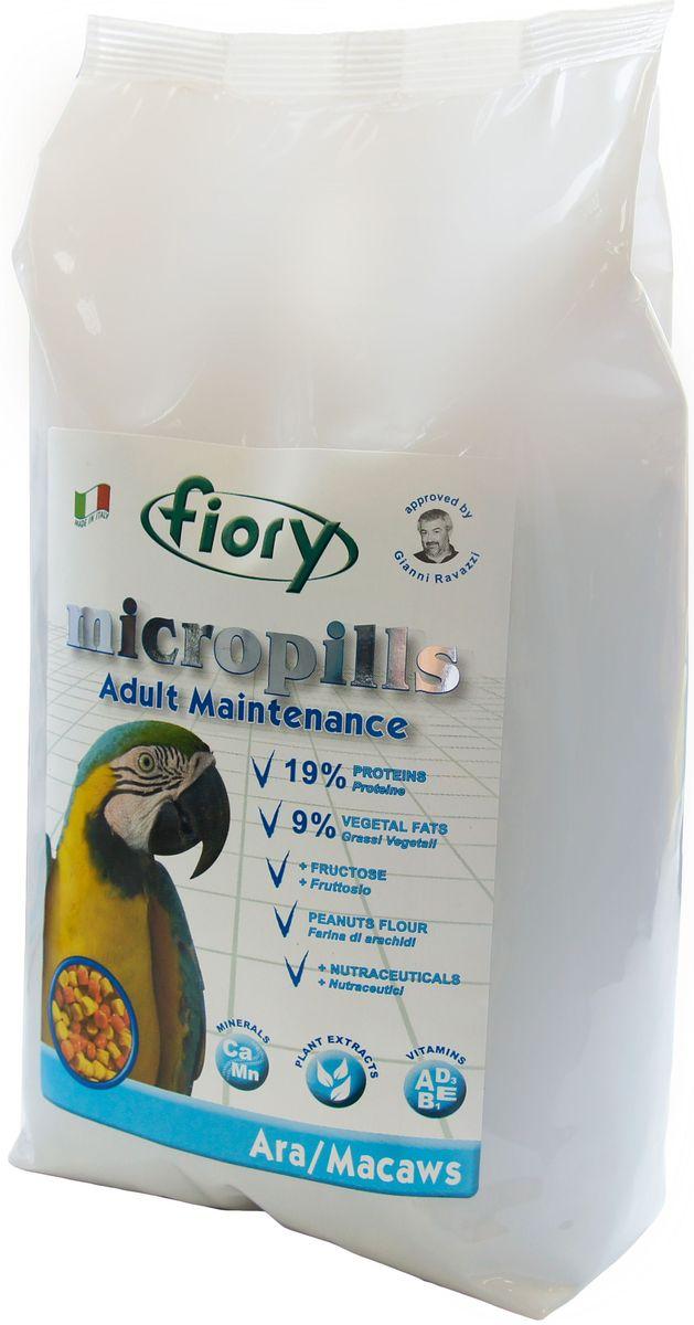 Корм сухой Fiory Micropills Ara/Macaws, для попугаев Ара, 2,5 кг0432Fiory Microppils Ara полноценный корм, созданный на основе пищевых потребностей взрослых попугаев Ара. Продукт содержит необходимое для данного вида попугаев повышенное количество белка (19%) и жира (9%). В качестве важного природного источника углеводов в данном корме используется фруктоза. Живой глютен пшеницы хорошо переваривается организмом птицы и служит отличным источником белка. Уникальная технология экструзии без применения высоких температур позволяет сохранить питательные вещества исходных компонентов. Бисквитная, рисовая и арахисовая мука придают корму высокую вкусовую привлекательность.Комплекс нутрицевтиков (дрожжи, инулин Цикория, фруктоолигосахариды, бета-глюканы, Омега-3 и Омега-6 жирные кислоты, титрованные растительные экстракты и др.) способствует правильному пищеварению, укрепляет иммунную систему, повышает усвоение минеральных веществ, улучшает работу сердца и сосудов, играет важную роль в развитии головного мозга и зрения, способствует формированию блестящего оперения. Уникальная форма корма – яркая цветная пеллета, делает корм привлекательным для птицы и исключает пищевое селективное поведение.Корм рекомендован известным орнитологом, заводчиком, автором более 70 книг о животных Gianni Ravazzi.Форма: пеллеты одинакового размера красного и желтого цвета.Фруктоза, глютен пшеницы, мука из печенья, пшеничные отруби, подсолнечное масло, рисовая мука, кукурузные отруби, соевая мука, арахисовая мука, карбонат кальция, бикарбонат натрия, красители и консерванты, одобренные EС, дрожжи Saccharomyces Cerevisiae (1250 мг/кг), инулин Цикория (250 мг/кг), клеточные стенки дрожжей Saccharomyces Cerevisiae (MOS 187,5 мг/кг), фруктоолигосахариды (ФОС 125 мг/кг), бета-глюкан дрожжей Saccharomyces Cerevisiae (66,9 мг/кг), нуклеотиды (62,5 мг/кг), Юкка Schidigera (25 мг/кг), масло Огуречника (Омега-6 ГЛК-микроинкапсулированная 5,55 мг/кг ), жирные кислоты (Омега-3 DHA+EPA+DPA 1,51 мг/кг), титрован