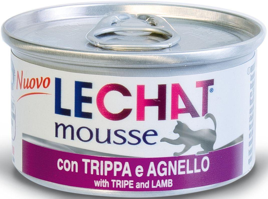 Консервы Monge Lechat mousse, для кошек, мусс потрошки и ягненок, 85 г70000949Lechat консервы для кошек потрошки/ягненок 85 гМусс с потрошками и ягненком LeChat - это полнорационный корм для кошек.Также подходит для кормления котят. В состав входят все необходимые витамины и минеральные вещества для поддержания здоровья и активности кошки.Эксклюзивный способ приготовления - варка на пару - позволяет достичь нежной, мягкой и при этом густой консистенции продукта.Не содержит красителей, консервантов и сахара. Рекомендации по кормлению: для кошек среднего размера норма составляет 85г продукта на каждое кормление (4-5 раз в день). Подавать корм комнатной температуры. Убедитесь, что у кошки есть доступ к свежей чистой воде. Хранить при комнатной температуре, после вскрытия-в холодильнике.Сырой белок 9%, сырой жир 6,6%, сырая клетчатка 0,5%, сырая зола 2%, влажность 78%. витамины и добавки на 1 кг: витамин А 2500МЕ, витамин D3 250 МЕ, витамин Е 10 мг, таурин 1200мг.Свежее мясо 76% (рубец – 13%, ягненок – 7%), злаки, минеральные вещества. Технологические добавки: загустители и желирующие вещества.Суточная норма для кошек среднего размера составляет 85г продукта на каждое кормление (4-5 раз в день). Подавать корм комнатной температуры. ВАЖНО, чтобы животное всегда имело доступ к чистой, свежей воде.
