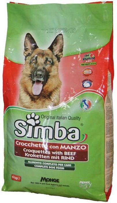 Корм сухой Monge Simba Dog, для собак, с говядиной, 4 кг70009560Simba Dog крокеты для собак с говядиной 4 кг Полнорационный корм для собак. Сухарики с говядиной.Рекомендации по кормлению: можно использовать в сухом виде или размачивать в теплой воде. Рекомендуется использовать суточные дозы в качестве ориентира, и, в случае использования продукта в первый раз, осуществлять изменение режима питания постепенно. Всегда обеспечивайте собаке доступ к свежей чистой воде.Хранить в сухом и прохладном месте.Сырой белок 21%, сырые масла и жиры 8%, сырая зола 9%, сырая клетчатка 4,5%. витамины и добавки на 1 кг: витамин А 10000МЕ, витамин D3 700 МЕ, витамин Е (как альфа-токоферол) 50 мг/кг, сульфат марганца 80 мг (марганец 25 мг), оксид цинка 170 мг (цинк 120 мг), сульфат меди 40 мг (медь 10мг), сульфат железа 290 мг (железо 87 мг), селенит натрия 0,39 мг (селен 0,17мг), йодат кальция 2,20 мг (йод 1,40мг). С антиоксидантами, одобренными ЕС.Энергетическая ценность: 3520 ккал/кгЗлаки, мясо и мясные субпродукты (говядина мин. 4,1%), субпродукты овощей, масла и жиры, витамины, минеральные вещества.Указанные в таблице суточные нормы кормления не являются обязательными, используйте их в качестве ориентира, а также в случае использования продукта в первый раз, осуществлять изменение режима питания необходимо постепенно. ВАЖНО, чтобы у животного всегда был свободный доступ к свежей и чистой воде. Новый корм рекомендуется вводить постепенно, увеличивая его количество каждый день до полного замещения им старого корма приблизительно через неделю.