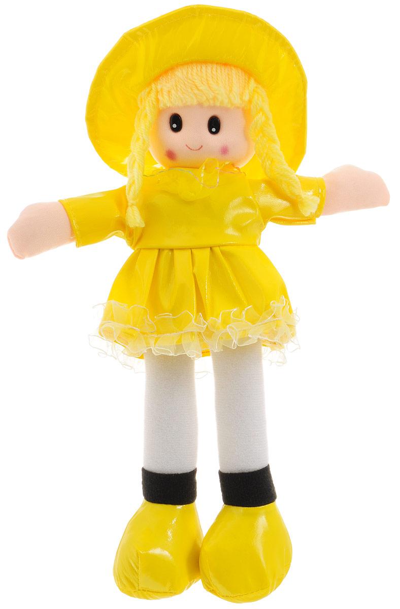 Sima-land Мягкая кукла в платье с бахромой цвет желтый sima land мягкая кукла оля с держателем и полотенцем цвет желтый