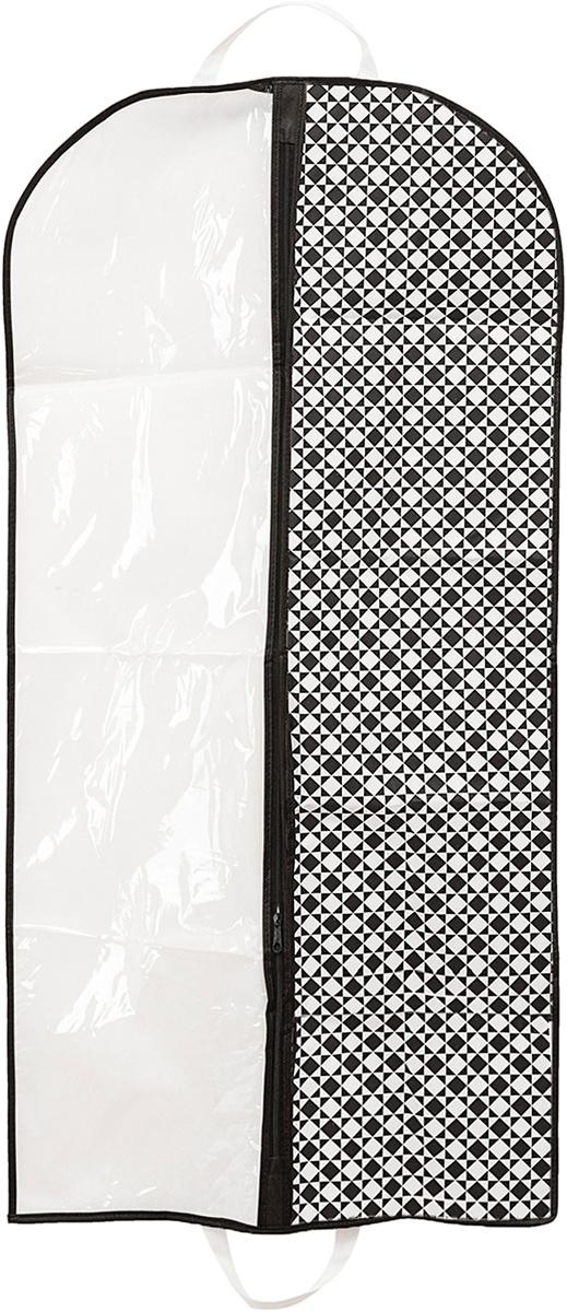 Чехол для одежды Homsu Maestro, 60 х 120 х 10 смHOM-782Чехол для одежды Homsu Maestro выполнен из спанбонда и поливинилхлорида. Такой чехол для одежды, произведённый в очень оригинальном стиле, поможет полноценно сберечь вашу одежду, как в домашнем хранении, так и во время транспортировки. Благодаря специальному материалу - спанбонду, ваша одежда будет не доступна для моли и не выцветет, а прозрачная половина, выполненная из ПВХ, легко позволит сразу же определить, что конкретно находится внутри. Кроме того, достаточно вместительный объём чехла легко позволяет разместить в нём большую зимнюю одежду.