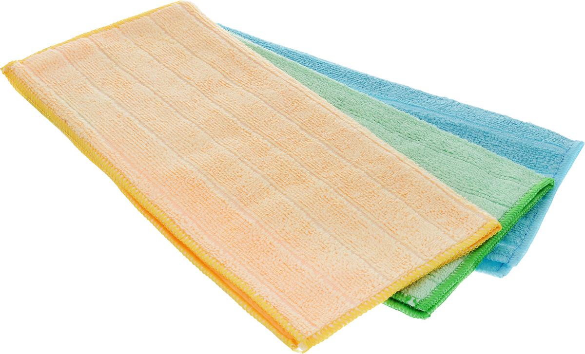 Салфетка универсальная Soavita, цвет: голубой, зеленый, желтый, 30 х 30 см, 3 шт51633_голубой, зеленый, желтыйНабор Soavita состоит из трех салфеток, выполненных из микрофибры (80% полиэстер и 20% полиамид). Изделия отлично впитывают влагу, быстро сохнут, сохраняют яркость цвета и не теряют форму даже после многократных стирок. Подходят для чистки и полировки бытовой техники, салона автомобиля, компьютеров, мебели.Салфетки универсальны, очень практичны и неприхотливы в уходе.