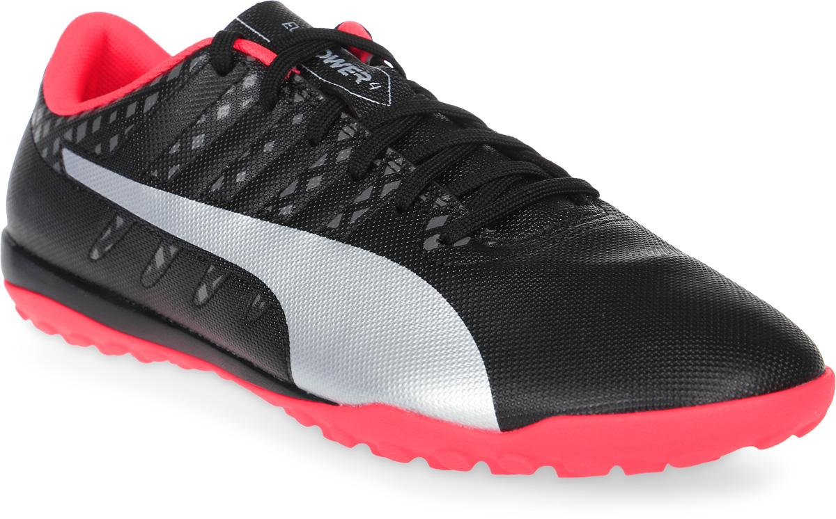 Бутсы муж Puma Evopower Vigor 4 Tt, цвет: черный, розовый. 10396502. Размер 7,5 (40)10396502