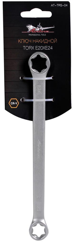 Ключ накидной Airline Torx, E20 x E24AT-TRS-04Накидной ключ Airline Torx  выполнен извысококачественной хром-ванадиевой стали. Тело ключаизготовлено методом горячей ковки, что придает емувысокую прочность и долговечность. Финишное прочноехромированное покрытие защищает ключ от воздействиякоррозии, делает его более износостойким и легкоочищается от загрязнений. Максимальное усилие без повреждения крепежа Продуманный профиль накидной части ключа смещает пятноконтакта с ребра грани на ее поверхность, что предотвращаетповреждение болтов и гаек даже при самых высокихнагрузках. Эргономичный профиль рукоятки ключа позволяет развиватьбольшее усилие без риска повреждения кистей рук.Встроенный прочный трещоточный механизм значительноповышает производительность труда и снижает нагрузки наорганизм. Твердость: 39-42 HRC.