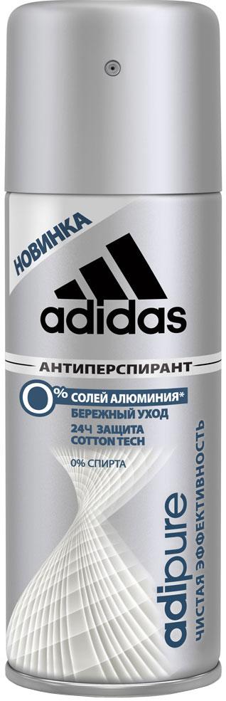 Adidas Дезодорант-антиперспирант спрей Adipure 24 ч, мужской, 150 мл34013351251Первый антиперспирант без солей и алюминия. Для чистой эффективности и ухода за кожей.Формула:0% мыла;0% красителей;Ph сбалансирован.Содержит комплекс cotton-tech с увлажняющими компонентами и экстрактом хлопка. Абсорбирующая технология. 0% солей алюминия. Чистая эффективность. Прозрачная текстура.