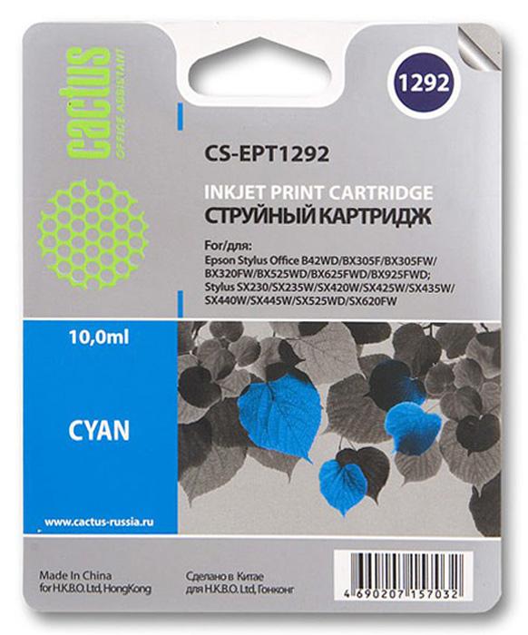 Cactus CS-EPT1292, Cyan струйный картридж для Epson Stylus Office B42/BX305/BX305FnCS-EPT1292Картридж Cactus CS-EPT1292 для струйных принтеров Epson.Расходные материалы Cactus для печати максимизируют характеристики принтера. Обеспечивают повышенную четкость изображения и плавность переходов оттенков и полутонов, позволяют отображать мельчайшие детали изображения. Обеспечивают надежное качество печати.