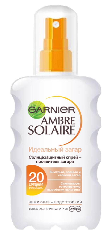 Garnier Ambre Solaire Спрей для тела Идеальный загар солнцезащитный, SPF 20, 200 мл спрей для тела garnier garnier ga002lwfqy96