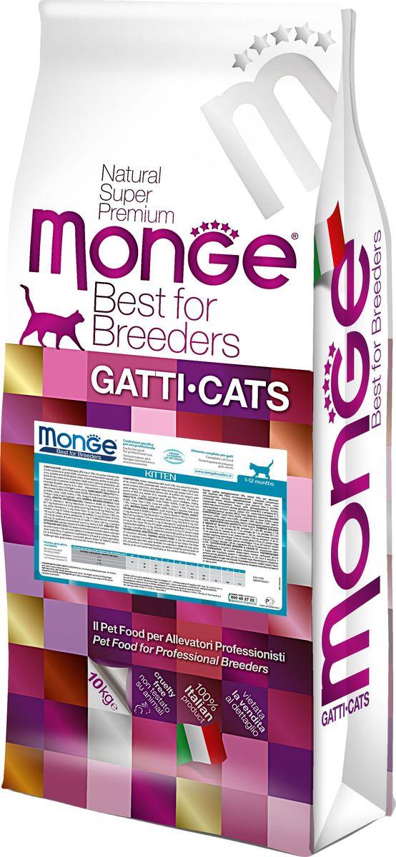 Корм сухой для котят Monge Cat, 10 кг70004817Корм сухой для котят Monge Cat - полноценный сбалансированный рацион для котят обеспечивает высококачественное питание для здорового роста котят в возрасте от 1 до 12 месяцев. Рекомендуется для кормления беременных и лактирующих кошек. Содержит важнейшие антиоксиданты, такие как витамин Е, для поддержки иммунной системы. Гарантированный анализ: сырой белок 34%, сырые масла и жиры 20%, сырая клетчатка 2,5%, сырая зола 6,5%, кальций 1,5%, фосфор 1,1%, магний 0,09%, Омега-6 жирные кислоты 8, 98%, Омега-3 жирные кислоты 1%. Пищевые добавки/кг: витамин А (ретинола ацетат) 26 000 МЕ, витамин D3 (холекальциферол) 1 830 МЕ, витамин Е (альфа-токоферол ацетат) 130 мг, витамин B1 (тиамина нитрат) 12 мг, витамин В2 (рибофлавин) 12 мг, витамин В6 (пиридоксинагидрохлорид) 7 мг, витамин В12 0,10 мг, биотин 0,30 мг, никотиновая кислота 46 мг, витамин С 200 мг, пантотеновая кислота 12 мг, фолиевая кислота 16 мг, холина хлорид 3000 мг, инозитол 15 мг, сульфат марганца моногидрат 100 мг (марганец 32 мг), оксид цинка 210 мг (цинк 150 мг), сульфат меди пентагидрат 52 мг (медь 13 мг), сульфат железа моногидрат 360 мг (железо 110 мг), селенит натрия 0,50 мг (селен 0,20 мг), безводный йодат кальция 2,70 мг (йод 1,80 мг).Аминокислоты/кг: L-карнитин 550 мг, DL-метионин 8 г, таурин 0,25%.Антиоксиданты: натуральная смесь из токоферола и экстракта розмарина обыкновенного. Энергетическая ценность: 4 220 ккал/кг. Ингредиенты: курица (свежаяо 10%, дегидрированная 26%), рис, животный жир (куринный жир 99,6%, консервированный с помощью натуральных антиоксидантов), кукуруза, гидролизованный животный белок, сухая свекольная пульпа, кукурузная глютеновая мука, яичный порошок (с высоким содержанием полноценного белка), рыба (дегидрированный лосось), рыбий жир (масло лосося), пивные дрожжи (источник МОС и Витамина В 12), нерастворимые волокна гороха, таурин, КОС (ксилоолигосахариды 3 г/кг), гидролизованные дрожжи (МОС), юкка Шидигера, шиповник. Рекомендации по