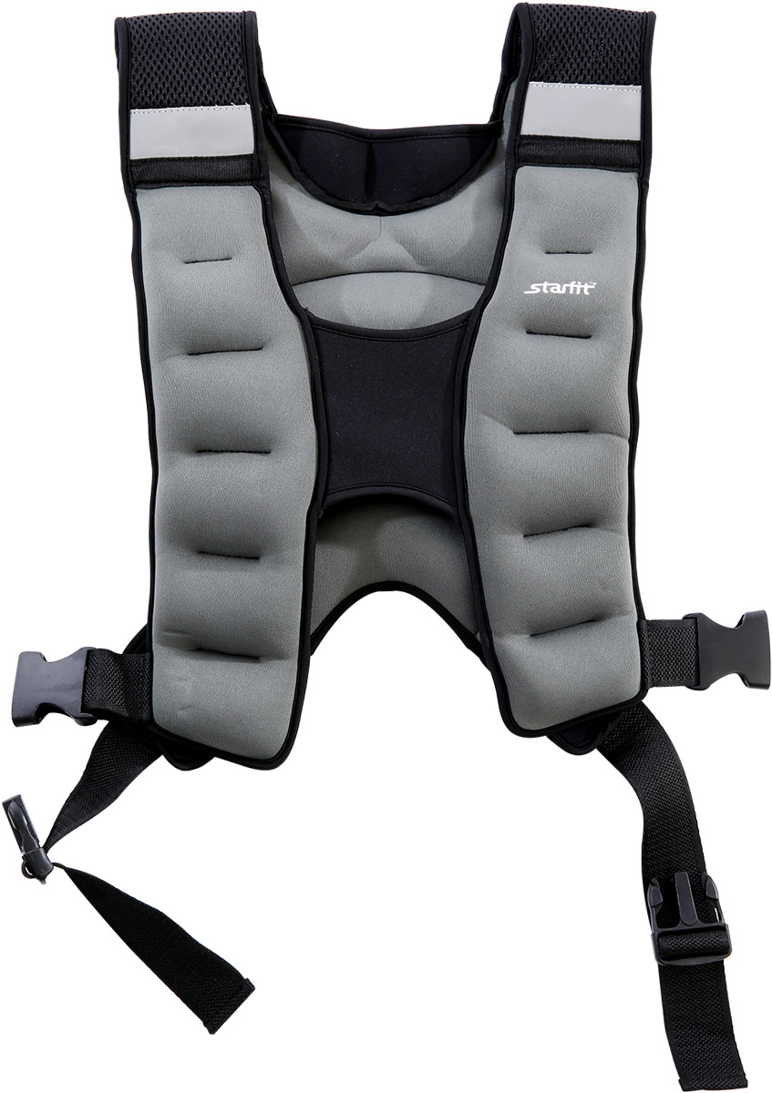 Жилет-утяжелитель Starfit  WT-301 , цвет: серый, 10 кг - Фитнес
