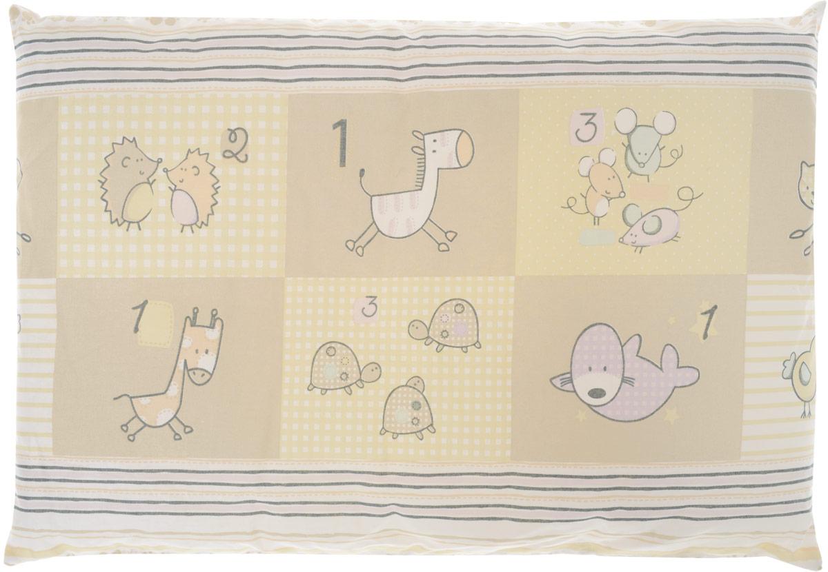 Сонный гномик Подушка детская Черепахи и птички цвет бежевый 60 х 40 см -  Детский текстиль