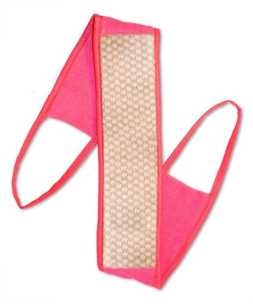 Мочалка Eva Ladies, с ручками, цвет: розовый, 9 х 72 см. М2522М2522Длинная мочалка Eva Ladies станет незаменимым аксессуаром ванной комнаты для каждой женщины.При изготовлении мочалки используется натуральный, экологически чистый продукт. Применение мочалки Eva Ladies эффективно воздействует на организм человека, оказывает массажный эффект, активизирует процесс клеточного обновления кожи, усиливает микроциркуляцию. При регулярном массаже кожа становится упругой и шелковистой. Размер: 9 x 72 см.Материал: крапива, хлопок.
