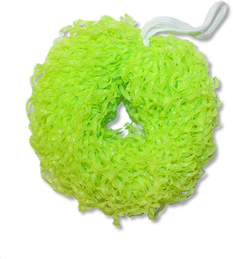 Мочалка массажная Eva Бублик, цвет: зеленый, диаметр 15 смМ352Банная мочалка Eva выполнена из полиэтилена и текстиля. Популярный привычный продукт в новом формате, который обеспечивает более длительный срок эксплуатации.