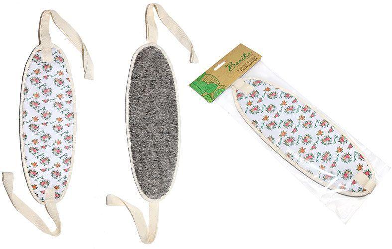 Мочалка Banika, длинная, с ручками, ленМ473Длинная мочалка с ручками Banika изготовлена из льна, она отлично подойдет для чувствительной кожи. Лен - это натуральный материал в виде петельчатого полотна для мягкого массажного ухода.Классическая форма - удлиненный овал, с ручками. Удобно держать, легко самостоятельно тереть спину. Обильное пенообразование, мягкий пилинг для нежной кожи. Уникальный дизайн. Подходит для использования взрослым и детям.