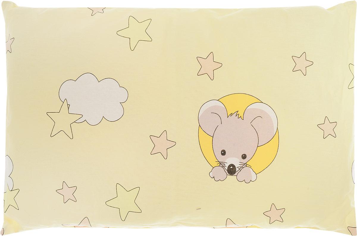 Сонный гномик Подушка детская Мыши цвет желтый 60 х 40 см555Б_желтыйДетская подушка Сонный гномик Мыши изготовлена из бязи - 100% хлопка и создана для комфортного сна вашего малыша.Гипоаллергенные ткани - это залог спокойствия, здорового сна малыша и его безопасности. Наполнитель (40% бамбук, 60% полиэстер) позволит коже ребенка дышать, создавая естественную вентиляцию. Мягкий и воздушный, он будет правильно поддерживать головку ребенка во время сна. Ткань наволочки - нежная и одновременно износостойкая - прослужит вам долгие годы.Уход: не гладить, только ручная стирка, нельзя отбеливать, нельзя выжимать и сушить в стиральной машине, химчистка запрещена.