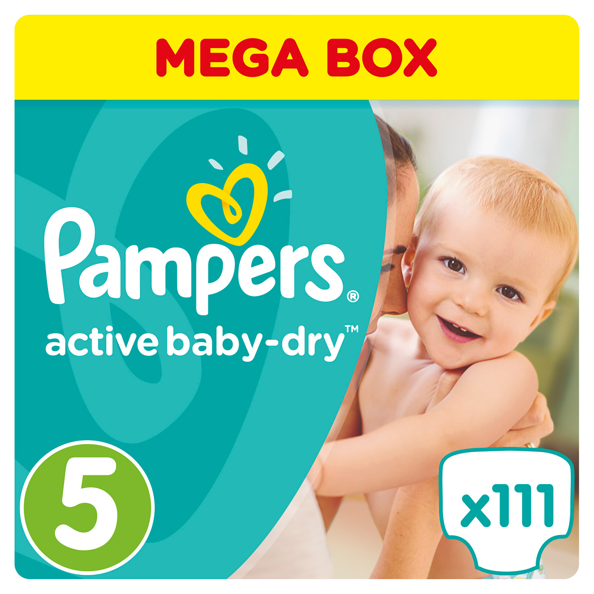 Pampers Подгузники Active Baby-dry 11-18 кг (размер 5) 111 шт