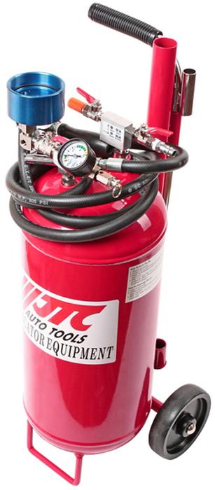 JTC Устройство для откачки технических жидкостей, 12 л. JTC-1032JTC-1032Емкость: 12 л. Используется для откачки технических жидкостей при помощи сжатого воздуха: все виды масла, бензин, дизельное топливо, вода и др. С прозрачной колбой для контроля процесса. Размер щупов в комплекте: ∅ 9 мм., ∅ 7 мм., ∅ 6 мм., а также шланг для тормозной жидкости. Габаритные размеры: 690/300/280 мм. (Д/Ш/В) Вес: 14000 гр.