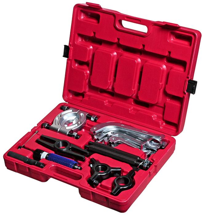JTC Набор съемников подшипников гидравлический универсальный. JTC-1035JTC-1035Предназначены для ремонта и обслуживания спецтехники, транспортных средств, а также для применения в промышленности. Применение гидравлического привода повышает производительность труда. Материалом является прочная сталь SCM415, твёрдость которой составляет 40-45.Усилие: 8-10 т.Упаковка: прочный переносной кейс.Габаритные размеры: 500/395/120 мм. (Д/Ш/В) Вес: 16200 гр.