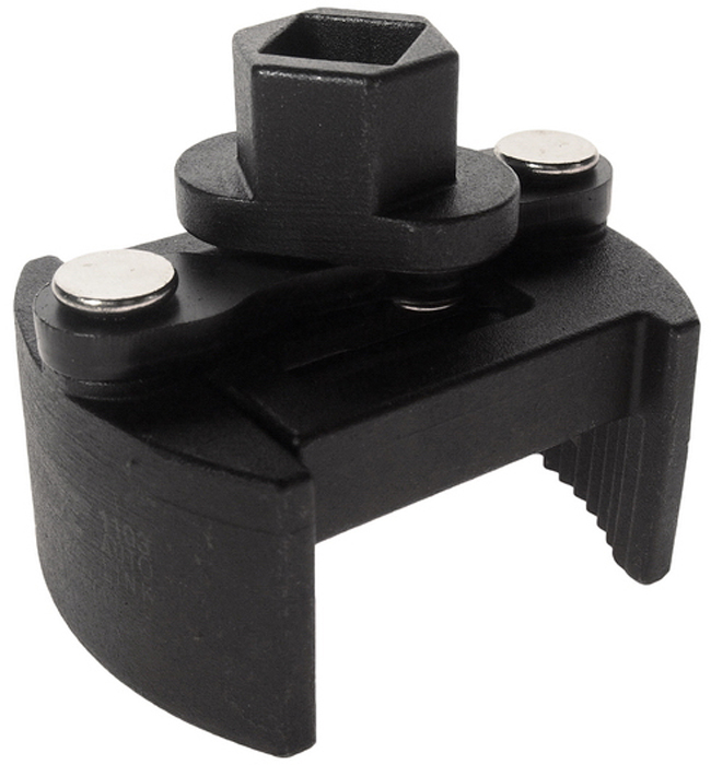 """JTC Ключ для снятия масляного фильтра двухпозиционный. JTC-1103JTC-1103Особая рифленая конструкция способствует крепкому захвату масляного фильтра. Универсальный дизайн для масляных фильтров различных типов. Специальная пружина в конструкции ключа предотвращает выскальзывание фильтра. Диаметр: 60-80. Ключ: 1/2""""Drх21 мм. Габаритные размеры: -/-/- мм. (Д/Ш/В) Вес: - гр."""