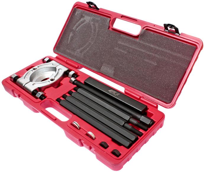 JTC Съемник подшипников. JTC-1142AJTC-1142AВ комплект входит съемник подшипников JTC-9015.Предназначен для снятия подшипников при помощи Н-образного съемника и специальных болтов.Упаковка: прочный переносной кейс.Количество в оптовой упаковке: 5 шт.Габаритные размеры: 475/200/60 мм. (Д/Ш/В)Длина резьбы: 265 мм.Вес: 7100 гр.