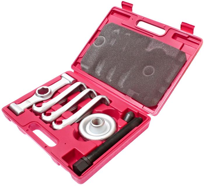 JTC Съемник ступицы универсальный. JTC-1259JTC-1259Съемные опоры легко устанавливаются в нужном положении для извлечения ступицы, где окружность болтового крепления не превышает 190,2 мм. Также применяется для снятия запрессованных тормозных барабанов. В комплект также входят приводная рукоять и винт съемника. Универсальная конструкция позволяет использовать приспособление для большинства марок автомобилей. Упаковка: прочный переносной кейс. Габаритные размеры: 330/245/40 мм. (Д/Ш/В) Вес: 4633 гр.