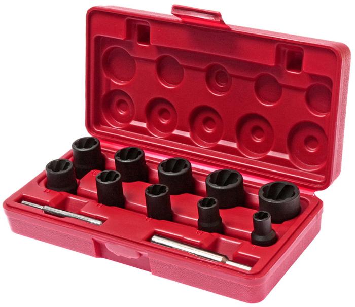 JTC Набор головок для поврежденных болтов и гаек 8-21 мм, 12 предметов. JTC-1321JTC-1321Применяется для извлечения поврежденных болтов и гаек. Специальная спиральная внутренняя резьба надежно фиксирует поврежденную гайку или головку болта. В комплекте: Размеры под ключ 3/8;: 8, 10, 12, 13 мм., длина 32 мм. Размеры под ключ 1/2;: 14, 15, 16, 17, 19, 21 мм., длина 34 мм. Выколотка, длина 72 мм. Выколотка, длина 80 мм. В наборе 12 предметов. Упаковка: прочный пластиковый кейс. Габаритные размеры: 215/110/50 мм. (Д/Ш/В) Вес: 870 гр.