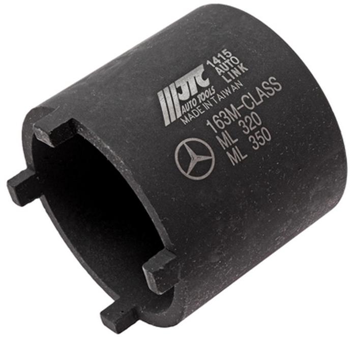 JTC Головка для работы с шаровыми опорами (Mercedes ML). JTC-1415JTC-1415Головка под ключ 3/4;.Используется для демонтажа стопорных колец , шаровых соединений Мерседес (Mercedes-Benz) М класса. Стопорное кольцо закручивается с усилием 300Нм. Применение: 163, 164ML-class , 251R-class передние и задние оси.Количество в оптовой упаковке: 36 шт.Габаритные размеры: 65/65/65 мм. (Д/Ш/В) Вес: 489 гр.