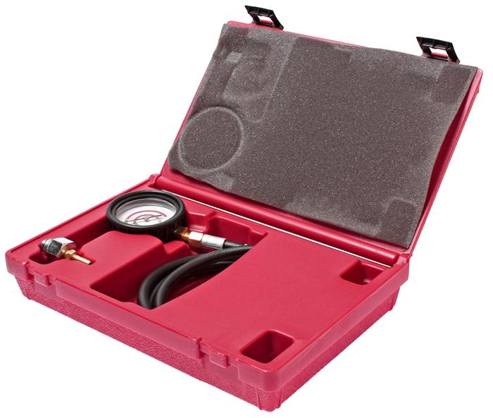 JTC Приспособление для проверки пропускной способности катализатора. JTC-1520JTC-1520Применяется для измерения потери давления через отверстия для датчика кислорода. В комплект входят адаптеры М12 и М18. Специальный манометр диаметром 2-1/4;, защищенный прорезиненным кожухом, имеет две цветных шкалы.Давление показывается в фунтах на квадратный дюйм (psi) и в барах. Упаковка: прочный переносной кейс. Количество в оптовой упаковке: 12 шт.Габаритные размеры: 300/200/65 мм. (Д/Ш/В) Вес: 929 гр.