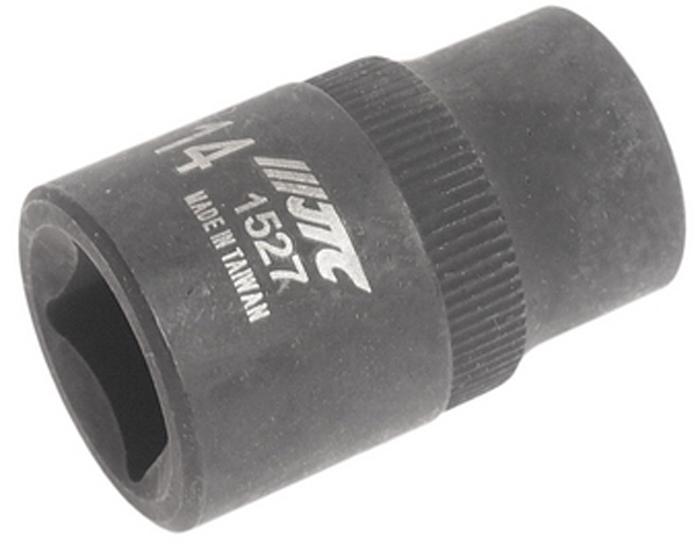 Головка JTC для обслуживания тормозных систем типа bendix. JTC-1527JTC-1527Головка JTC используется с ключом: 1/2 и применяется для тормозных систем типа bendix автомобилей Форд (Ford) и Мазда (Mazda). Размер: 14 мм.5 граней.