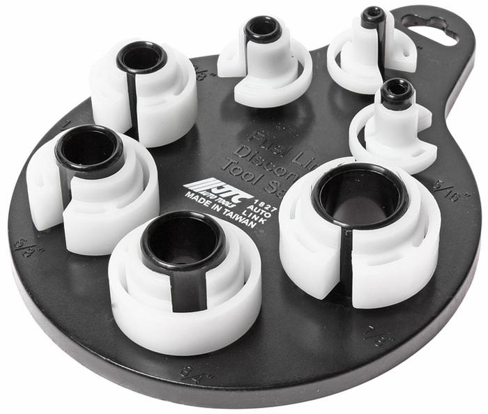JTC Набор для разъединения трубопроводов, 7 шт. JTC-1827JTC-1827Используется для разъединения и соединения линий различных систем автомобиля. Размеры 1/4;, 5/16;, 3/8;, 1/2;, 5/8;, 3/4;, 7/8;.Количество в оптовой упаковке: 12 шт. и 72 шт.Габаритные размеры: 225/145/35 мм. (Д/Ш/В)Вес: 124 гр.