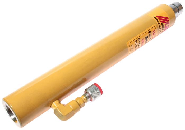 """JTC Гидроцилиндр силовой. JTC-8P102JTC-8P102Усилие: 10 т. Шток: 250 мм. Высота: 453-707 мм. Внутренний диаметр цилиндра: 45 мм. Штуцер: 1/4"""", 3/8РТ. Габаритные размеры: 470/100/65 мм. (Д/Ш/В) Вес: 7000 гр."""