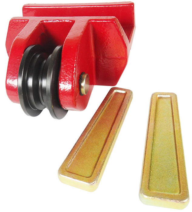 """JTC Шкив для цепей размером 5/16 и 3/8, 2 фиксирующих штифта. JTC-8P110JTC-8P110Используется с цепями 5/16"""" и 3/8"""".В комплекте два фиксирующих штифта.Кронштейн обладает подвижностью для эффективного выполнения кузовных работ. Габаритные размеры: 215/205/120 мм. (Д/Ш/В) Вес: 8940 гр."""
