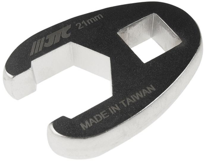 """JTC Ключ разрезной односторонний 1/2, 21 мм. JTC-1925JTC-1925Инструмент изготовлен из хром-молибденовой стали, предназначен для откручивания/закручивания накидных гаек различных гидро- и пневматических систем автомобиля.ОдностороннийРазмер: 1/2"""", 21 мм.Габаритные размеры: -/-/- мм. (Д/Ш/В)Вес: - гр."""
