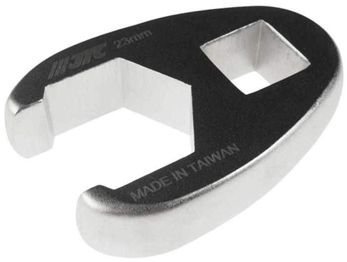"""JTC Ключ разрезной односторонний 1/2, 23 мм. JTC-1927JTC-1927Инструмент изготовлен из хром-молибденовой стали, предназначен для откручивания/закручивания накидных гаек различных гидро- и пневматических систем автомобиля.Односторонний.Размер: 1/2"""", 23 мм.Габаритные размеры: -/-/- мм. (Д/Ш/В)Вес: - гр."""