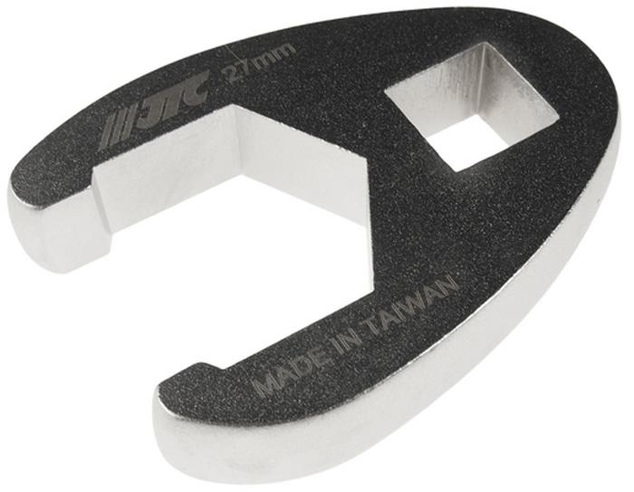 """JTC Ключ разрезной односторонний 1/2, 27 мм. JTC-1931JTC-1931Инструмент изготовлен из хром-молибденовой стали, предназначен для откручивания/закручивания накидных гаек различных гидро- и пневматических систем автомобиля.ОдностороннийРазмер: 1/2"""", 27 мм.Габаритные размеры: -/-/- мм. (Д/Ш/В)Вес: - гр."""