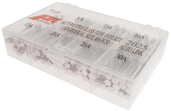 JTCНабор предохранителей стеклянных трубчатых 5-30А, 105 шт.  JTC-2025 JTC