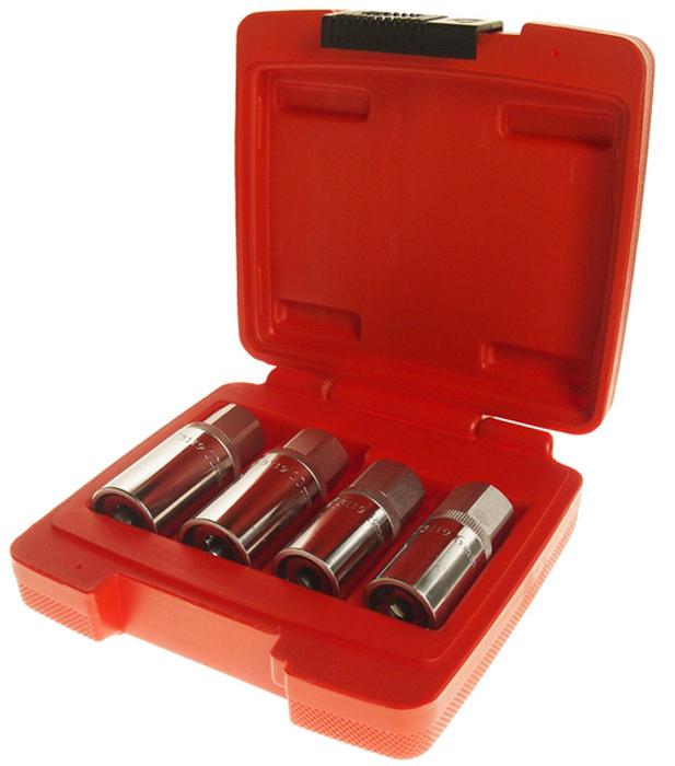 JTC Набор шпильковертов, 4 шт. JTC-3119JTC-3119Специально разработанный дизайн позволяет откручивать винты с повреждённой головкой.Инструмент изготовлен из хром-ванадиевой стали.Размеры: 6, 8, 10, 12 мм. Общее количество предметов: 4. Упаковка: прочный пластиковый кейс. Количество в оптовой упаковке: 6 шт. и 24 шт. Габаритные размеры: 150/150/45 мм. (Д/Ш/В) Вес: 741 гр.