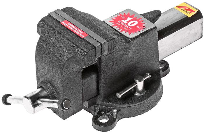 JTC Тиски слесарные поворотные. JTC-3121JTC-3121Тиски поворотные JTCОписаниеИзготовлены из легированной стали. Специальная конструкция с поворотным основанием позволяет регулировать и фиксировать тиски в нужном направлении. Ширина губок: 100 мм. Габаритные размеры: 345/185/175 мм. (Д/Ш/В) Вес: 8300 гр.