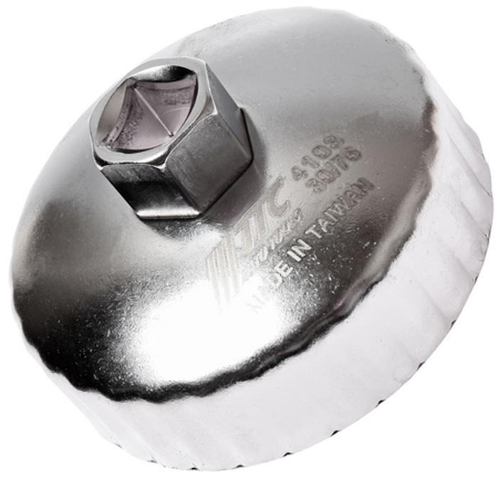 JTC Съемник масляного фильтра. JTC-4103JTC-4103Предназначен для снятия масляного фильтра в ходе проведения диагностических работ.Форма - 30-гранная чашка.Размеры: 30 граней/76 мм.Применение: Ленд Ровер (Land Rover), Ягуар (Jaguar).Инструмент: 1/2, 21 мм.Количество в оптовой упаковке: 10 шт. и 100 шт.Габаритные размеры: 145/110/50 мм. (Д/Ш/В)Вес: 200 гр.