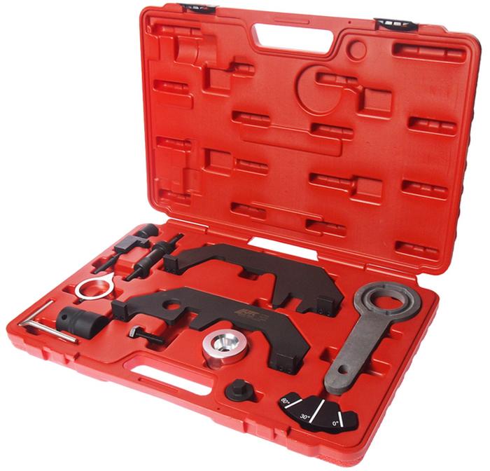 JTC Набор для установки и регулировки фаз ГРМ (BMW N62, N73). JTC-4169JTC-4169В комплект входят: Фиксатор коленвала;Индикатор углов;Головка 27 мм.;Устройство для натяжения цепи;Приспособления для фиксации распределительного вала. Применение: БМВ (BMW) N62, N73.Габаритные размеры: 450/320/55 мм. (Д/Ш/В)Вес: 4000 гр.