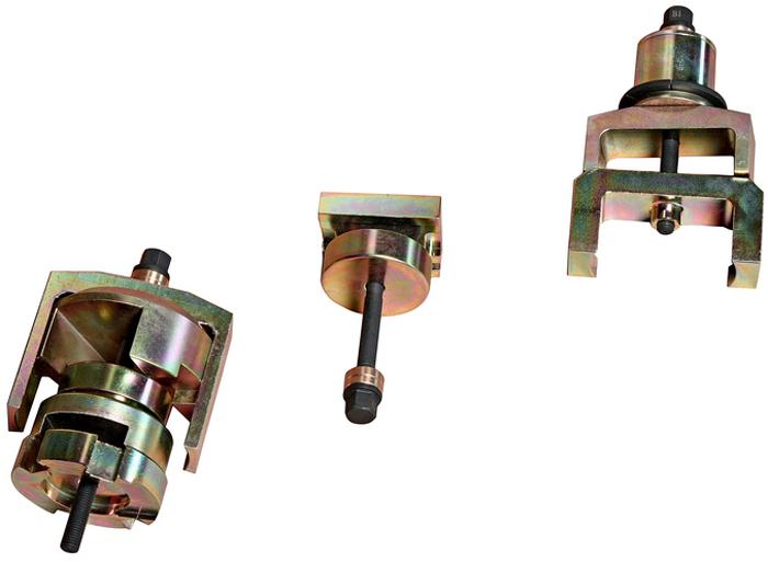 JTC Набор для снятия и установки сайлентблоков подрамника (MERCEDES W211, W219, W230). JTC-4203JTC-4203Съемник предназначен для замены передних и задних сайлентблоков заднего подрамника. Оригинальный номер ОЕМ: 230589004300.Применение: Мерседес (Mercedes-Benz) W211, W219, W230.Упаковка: прочный металлический кейс.Габаритные размеры: 520/290/180 мм. (Д/Ш/В) Вес: 4500 гр. ПОДРОБНАЯ ВИДЕОИНСТРУКЦИЯ