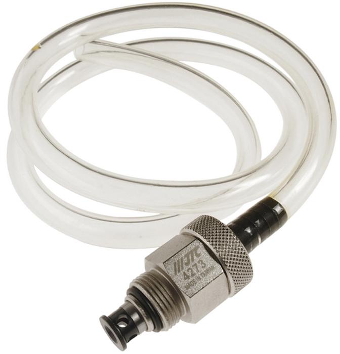 JTC Приспособление для слива масла. JTC-4273JTC-4273Профессиональное приспособление, которое обеспечивает быстрый слив масла из фильтра; предотвращает разлив масла во время выполнения работ по замене фильтра. Применение: Автомобили Тойота (TOYOTA) и Лексус (LEXUS) (2006-) с 4-х, 6-ти и 8-цилиндровыми двигателями.