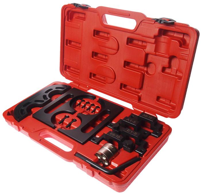 JTC Набор фиксаторов распредвала для установки фаз ГРМ (BMW S85, оригинальный код 115100, 115300, 115320, 115410, 118380). JTC-4299JTC-4299Применяется для установки и регулировки фаз ГРМ. Используется для фиксации впускного и выпускного распредвалов. Применение: БМВ (BMW) двигатель S85, на Е60/М5, Е63/М6.Оригинальный код: 115100, 115300, 115320, 115410, 118380. Габаритные размеры: 470/280/90 мм. (Д/Ш/В)Вес: 4283 гр.